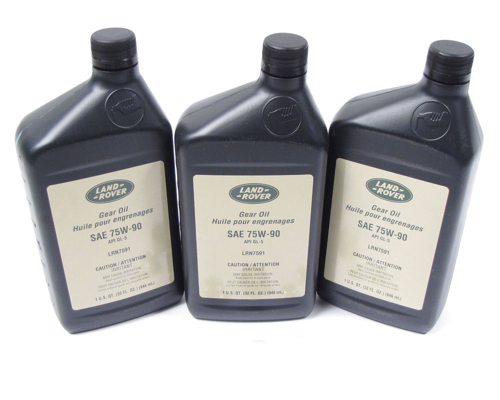 Genuine Differential Fluid Service Kit, Front And Rear, For Land Rover LR3 And LR4 (With Non-Electronic Diffs), Includes 3 Quarts Genuine Differential / Axle Oil 75W90R GL5 Fluid