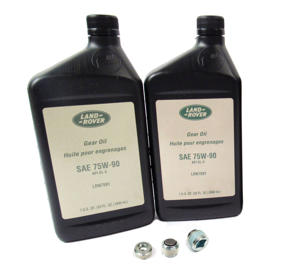 Differential Service Kit, Front And Rear, For Range Rover Full Size 2010 - 2012 (For Non-Electronic Differential Vehicles), Includes Fluid And Replacment Plugs