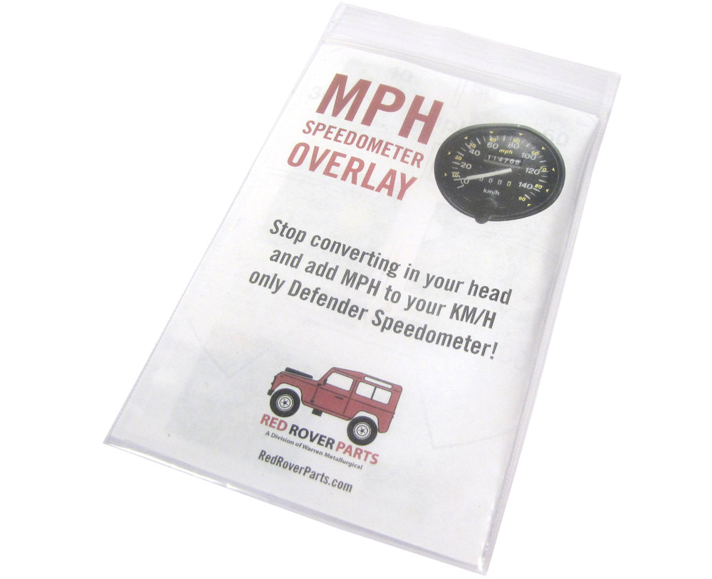 Speedometer Retrofit Decal, Converts Display From KPH To MPH, For Land Rover Defender 200 Tdi, 300 Tdi, And Rest-Of-World Non-North American Spec Models