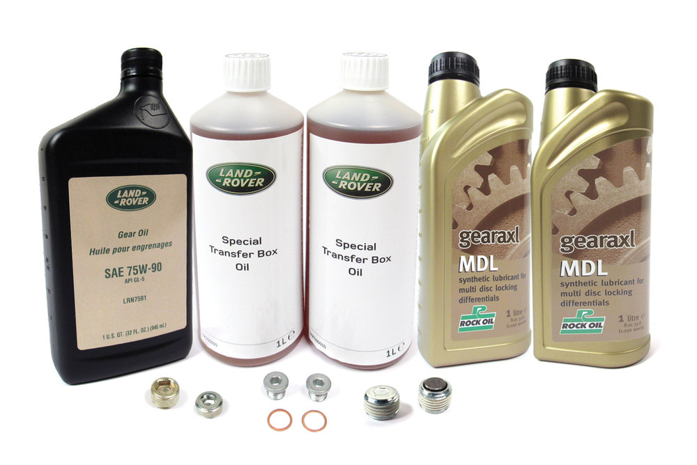 Differential And Transfer Case Service Kit For Range Rover Full Size 2010 - 2012 (For Electronic Differential Vehicles), Includes Fluid And Replacement Plugs