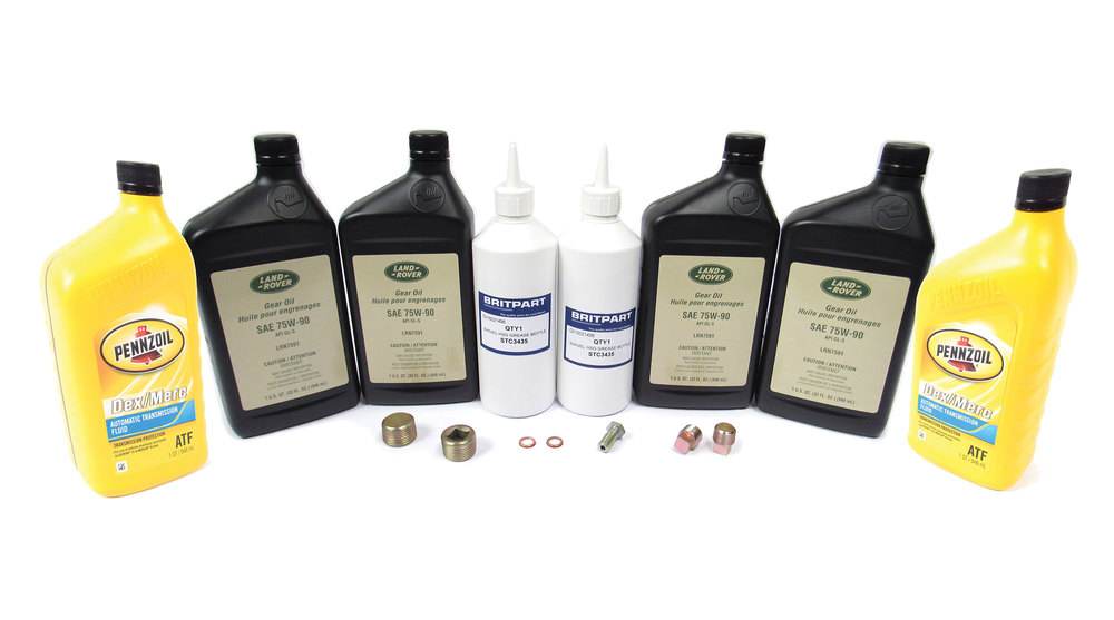 Differential, Transfer Case And Axle Service Kit, For Range Rover Classic 1990 - 1994, Includes Oil, Swivel Housing Grease, Replacement Plugs And Hardware