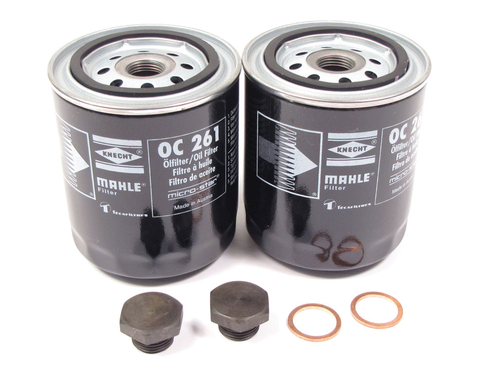 2 MAHLE oil filter kits