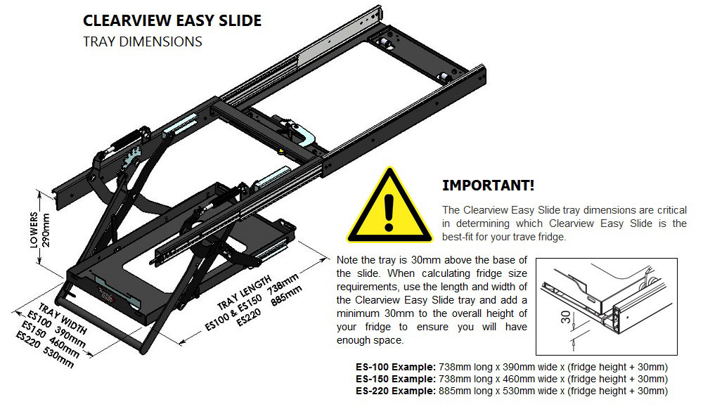 Clearview Easy Slide ES-220 Fit Guide