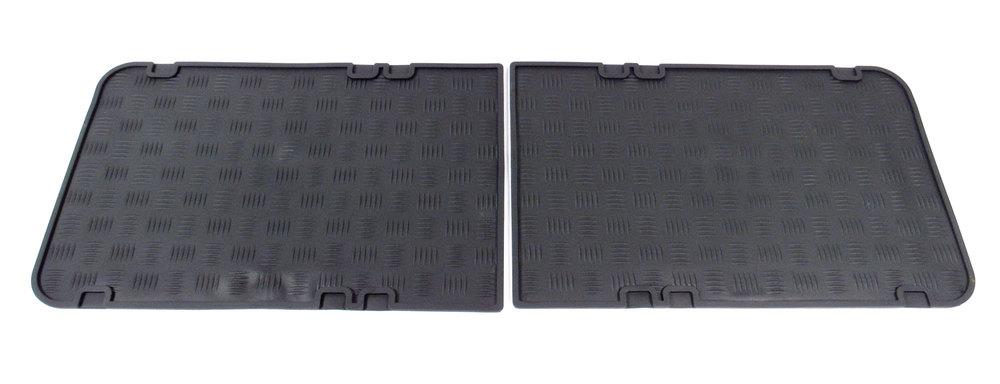 Pair Of Second Row Rubber Floor Mats By Exmoor For Land Rover Series II, IIA & III