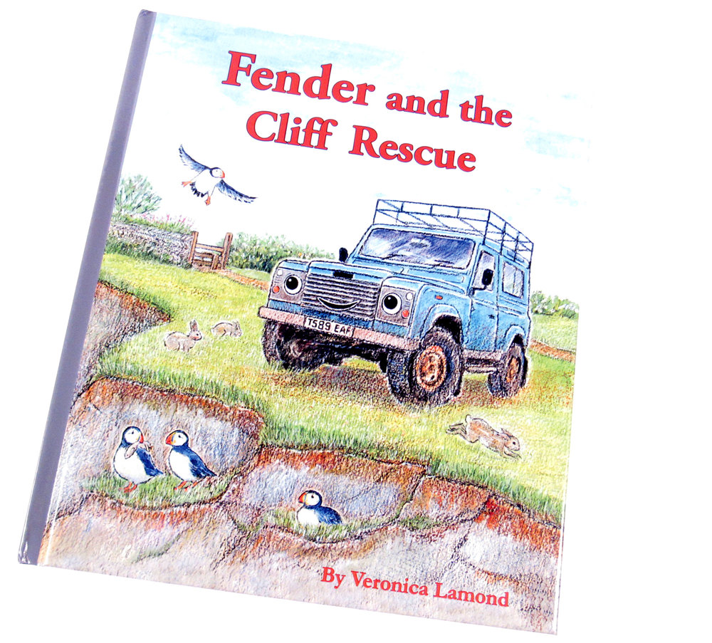 Book: Fender And The Cliff Rescue, A Children's Land Rover Defender Storybook