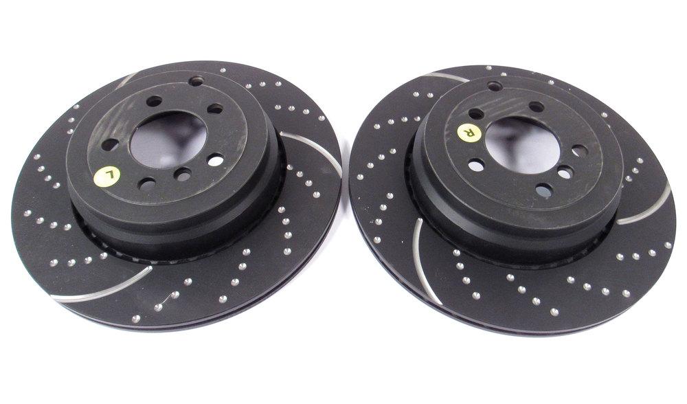 2 brake rotors