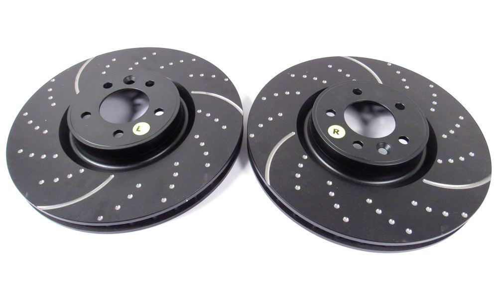 EBC front brake rotors for Range Rover Full Size Supercharged, 2010 - 2012