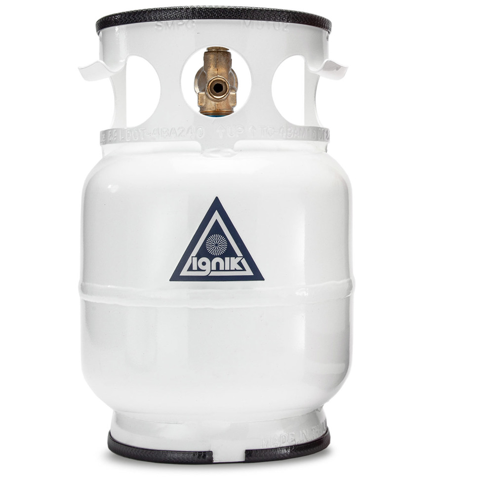 Gas Growler Deluxe By Ignik, Refillable 5-Pound Propane Gas Tank With Adapter Hose And Carry Case Kit