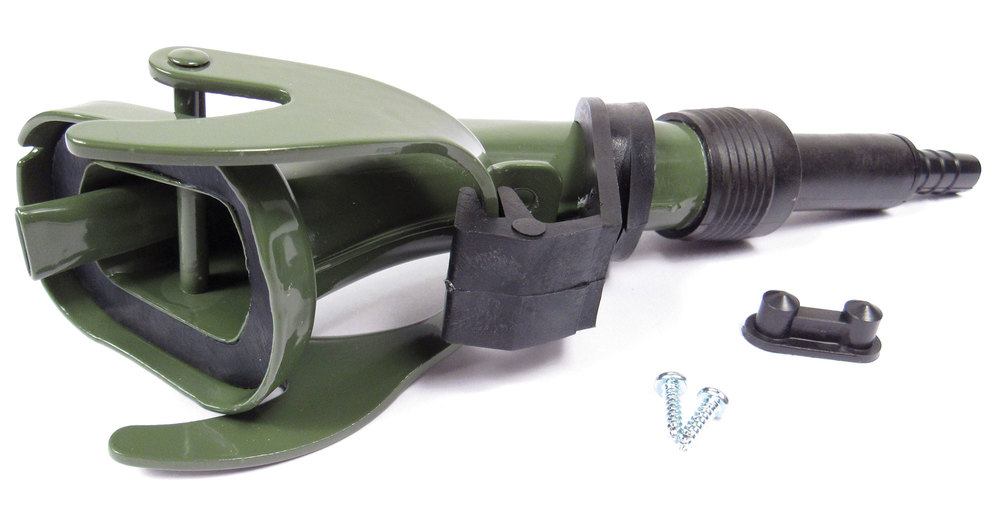 Fixed Jerry Can Nozzle / Spout, Metal Olive Drab Green