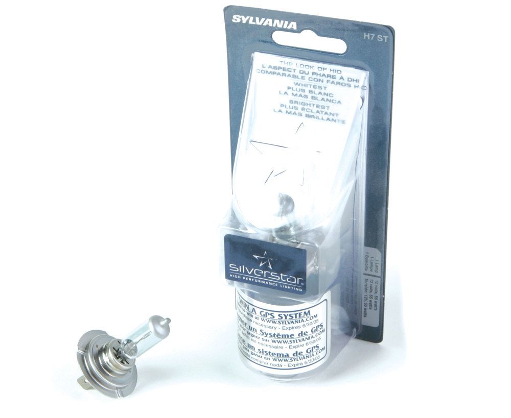 Headlight Bulb - Sylvania Silverstar - H7 12V 55W