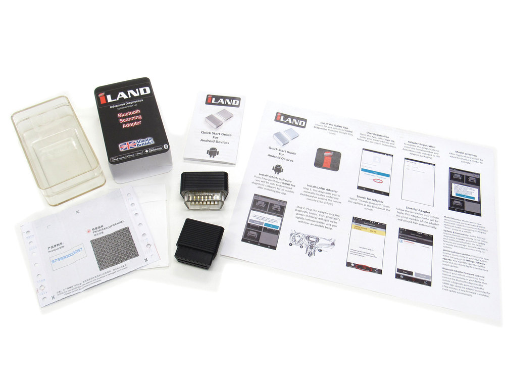 iLAND Bluetooth Adapter & Activation Kit with Quick Start Guide and Activation Code
