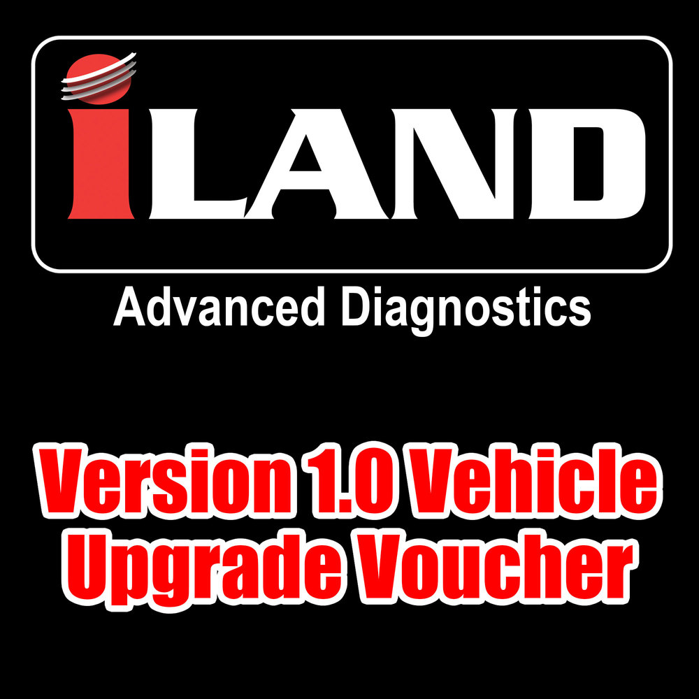 iLAND Advanced Diagnostics Version 1.0 Vehicle Upgrade Voucher