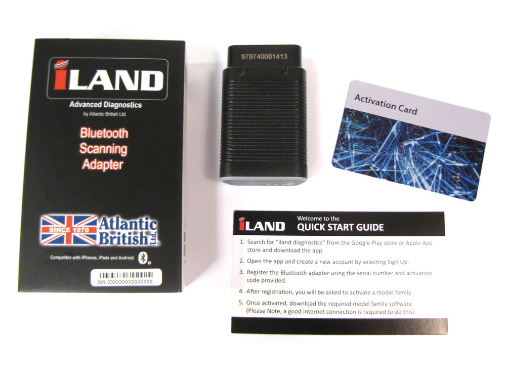 iLAND V2.0 Diagnostic Tool App Activation Kit And Bluetooth Adapter For Land Rover And Range Rover Vehicles
