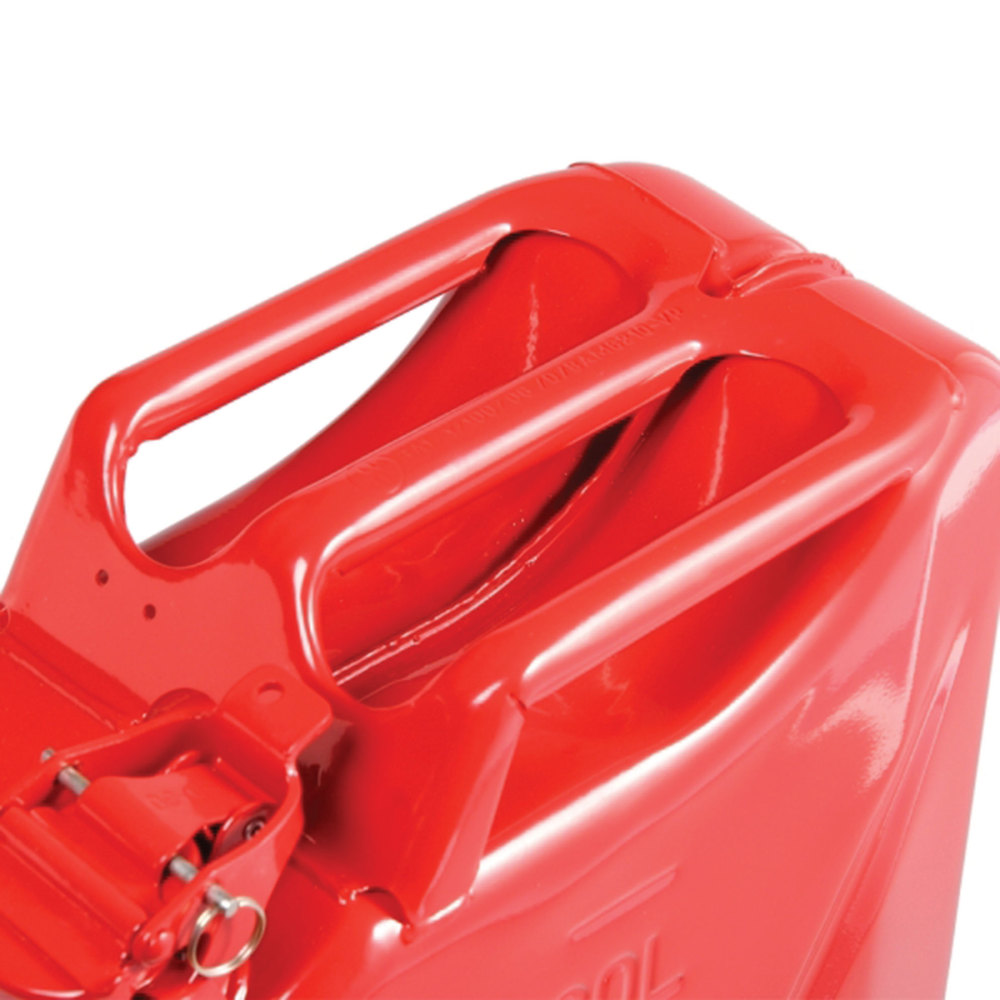 NATO Style Jerry Can (CARB-Approved / EPA-Approved) 20 Liter / 5 Gallon Metal, Red Color, Built To European Military Spec By Wavian