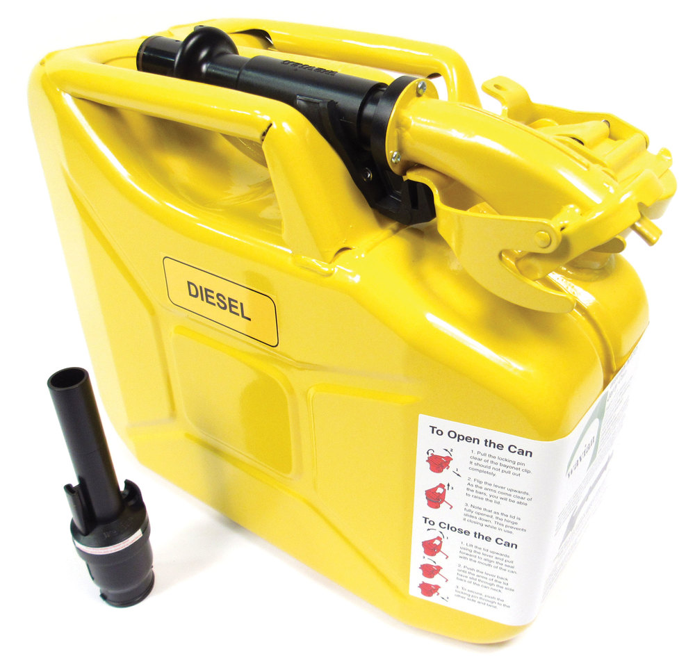 10 liter yellow Jerry Can with spout