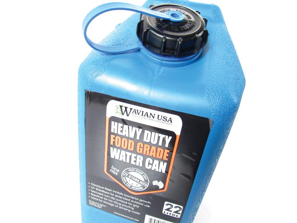 Wavian heavy duty blue water can
