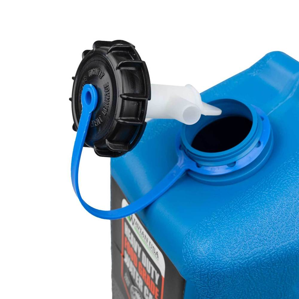 Water jerry can cap with spigot stored