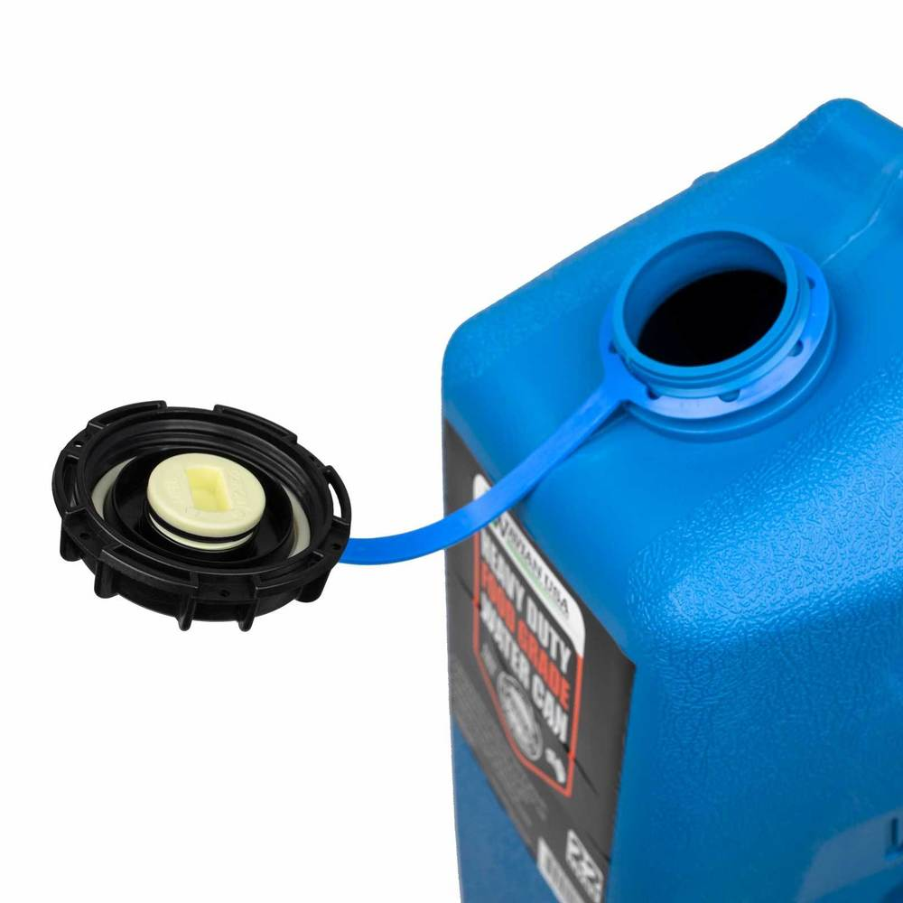 Water jerry can cap with spigot removed