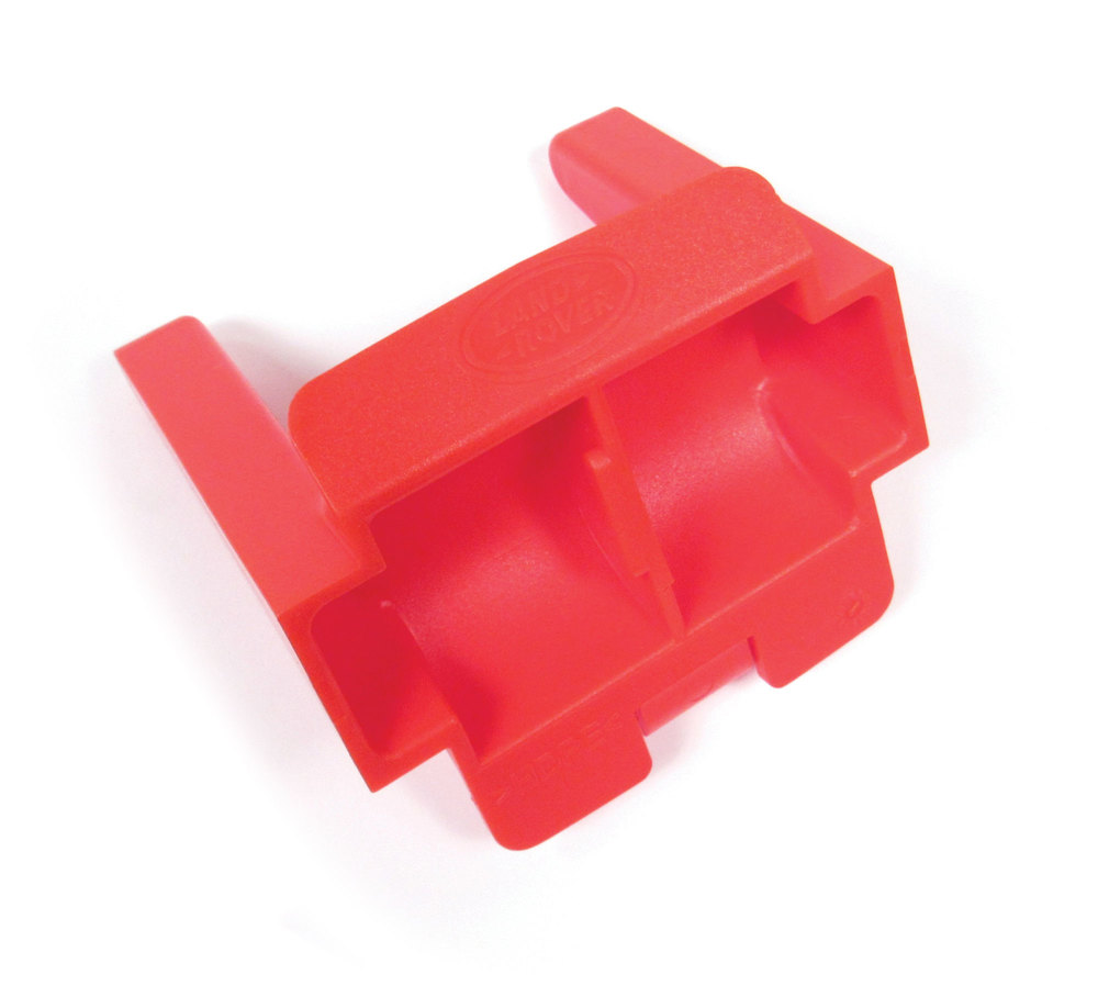 tow hitch blanking cover plug, red, Range Rover Sport