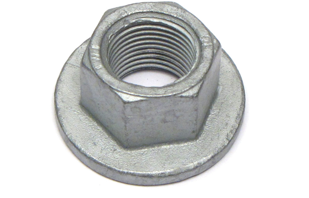 Genuine Suspesnion Air Strut Front Knuckle Flanged Locking Nut KYH000051, 16 MM, For Range Rover Full Size L322, 2003 - 2012 (See Fitment Years)