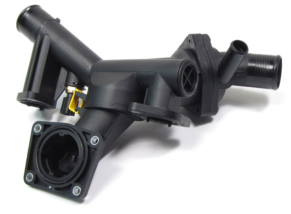 Engine Thermostat And Housing Assembly LR005631 For Land Rover LR3 And Range Rover Sport, 2005 - 2009 (See Fitment Notes) Includes Thermostat.