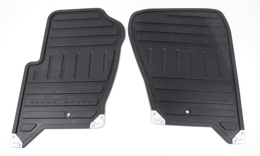 Rubber Floor Mat Set - Front Pair - Black