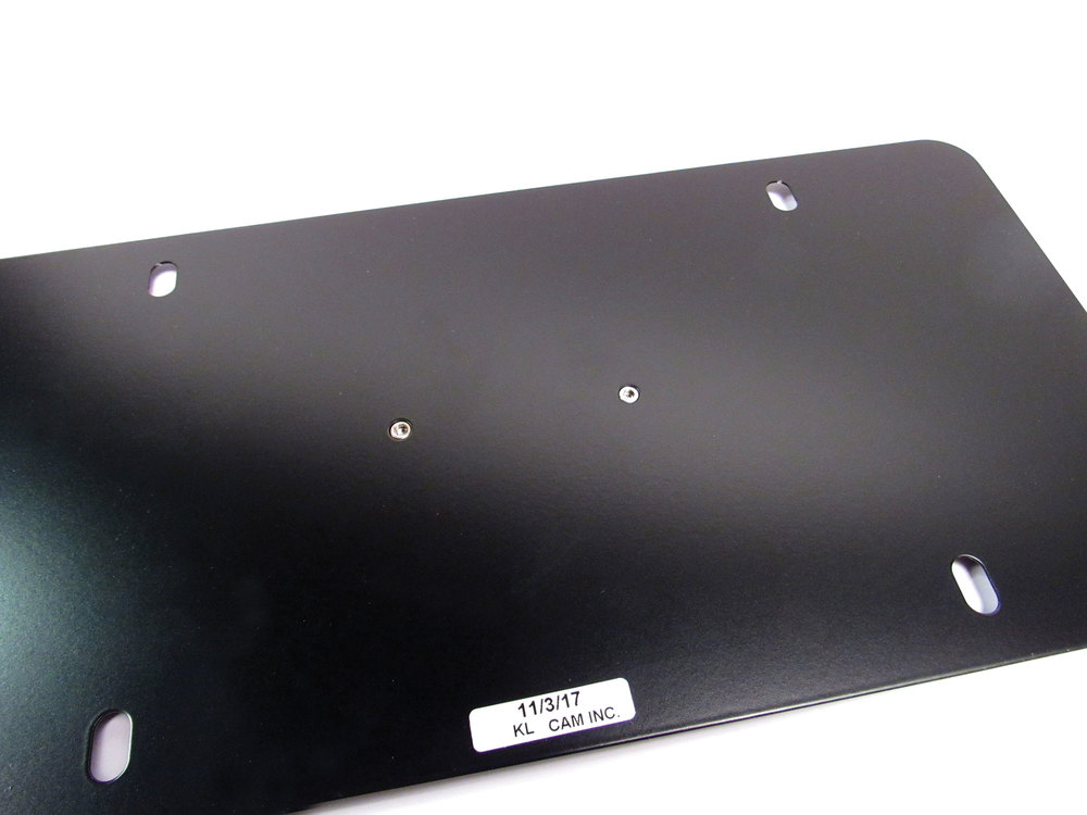 Genuine License Plate LR007529 With Land Rover Logo On Matte Black Background, Includes Mounting Hardware
