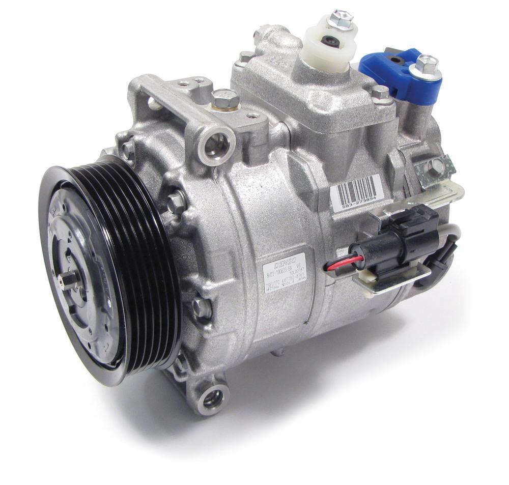 New A/C Compressor, Original Equipment By Denso, For Land Rover LR3 V6