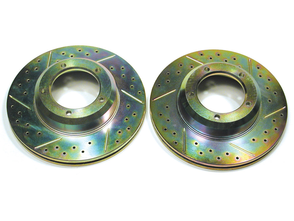 Brake Rotor Front Drilled/Slotted Pair