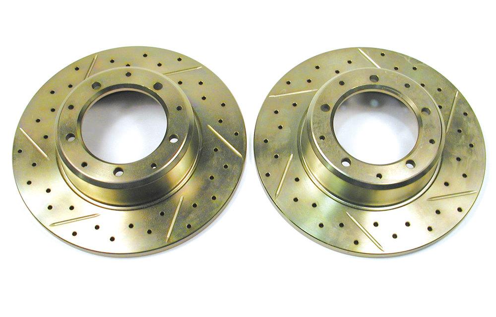 Brake Rotor Rear Drill/Slot Pair