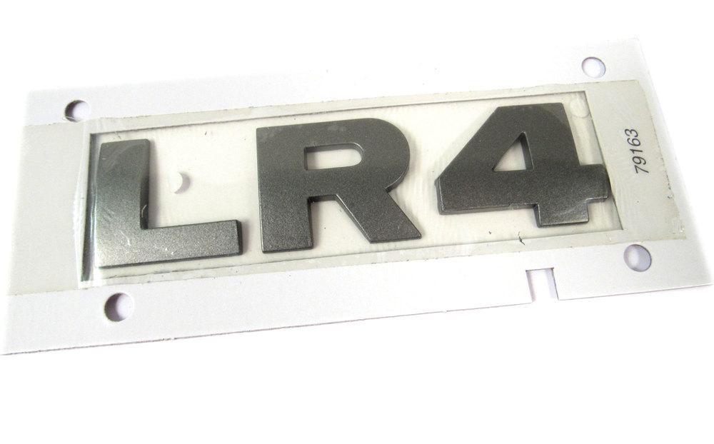 Badge LR4-Rear Tailgate-Brunel Metallic