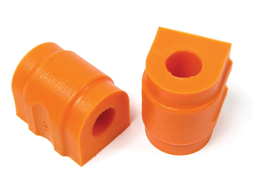 Polyurethane Suspension Bushing Set By Polybush, For Rear Sway Bar, Orange / Standard Firmness, For Range Rover Sport 2006 - 2009 Without Anti-Roll