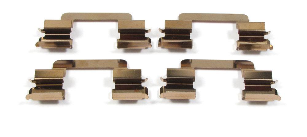 brake pad retaining springs - front