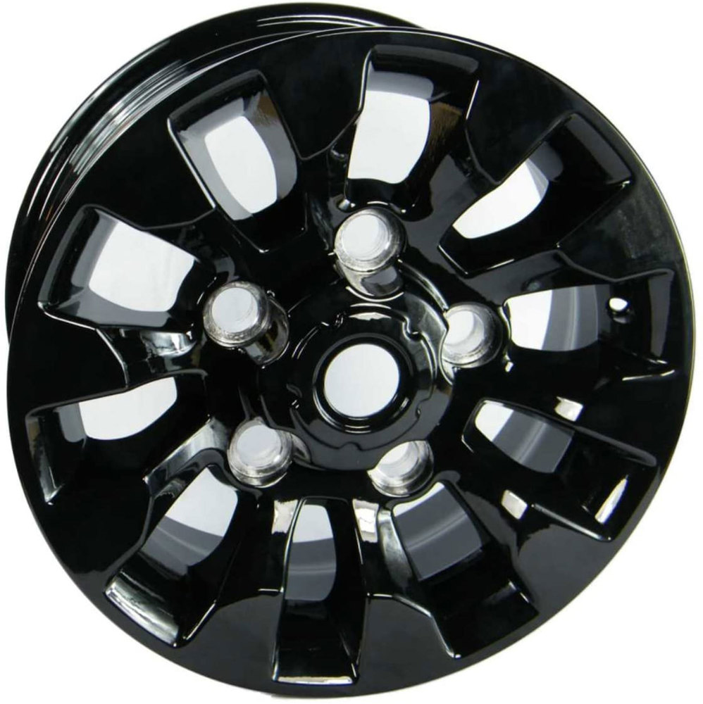 Sawtooth Style Alloy Wheels 16 X 7 Inch LR025862, Set Of 4, Black, For Land Rover Discovery I, Defender 90, And Range Rover Classic (See Fitment Years)