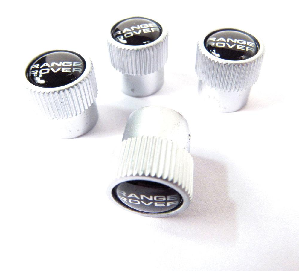LLCWER Capuchons De Tige De Valve De Pneu en M/éTal pour Land Rover Range Rover Sport Evoque L322 Vogue V/éHicule Roue Dust Air Cover Accessoires Porte-Cl/éS