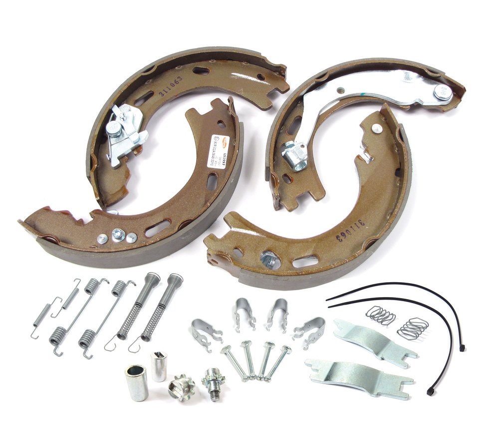 Parking Brake Shoe Kit, LR031947 With Springs And Pins, For Land Rover LR3, LR4, And Range Rover Sport (See Fitment Years)