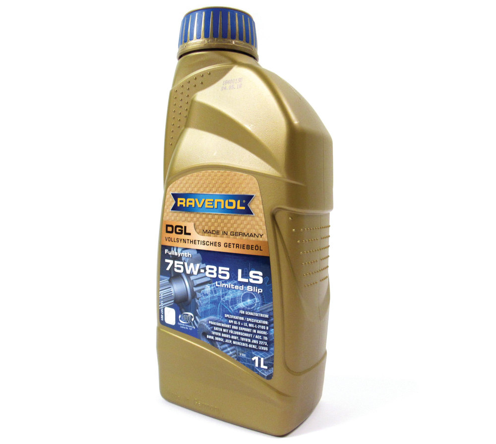Differential Fluid Gear Oil By Ravenol, SAE 75W-85 Fully Synthetic DGL API Gl-5 LS, For Range Rover Evoque (LR052059)