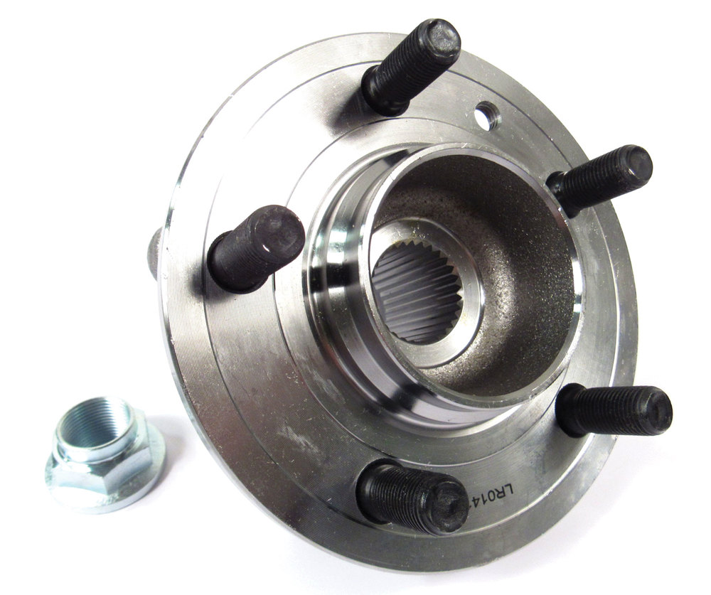 Hub Bearing Assembly LR076692, Front Left Or Right Hand, For Land Rover LR3, LR4 And Range Rover Sport, Includes Front Hub Axle Retainer Nut (See Fitment Years)