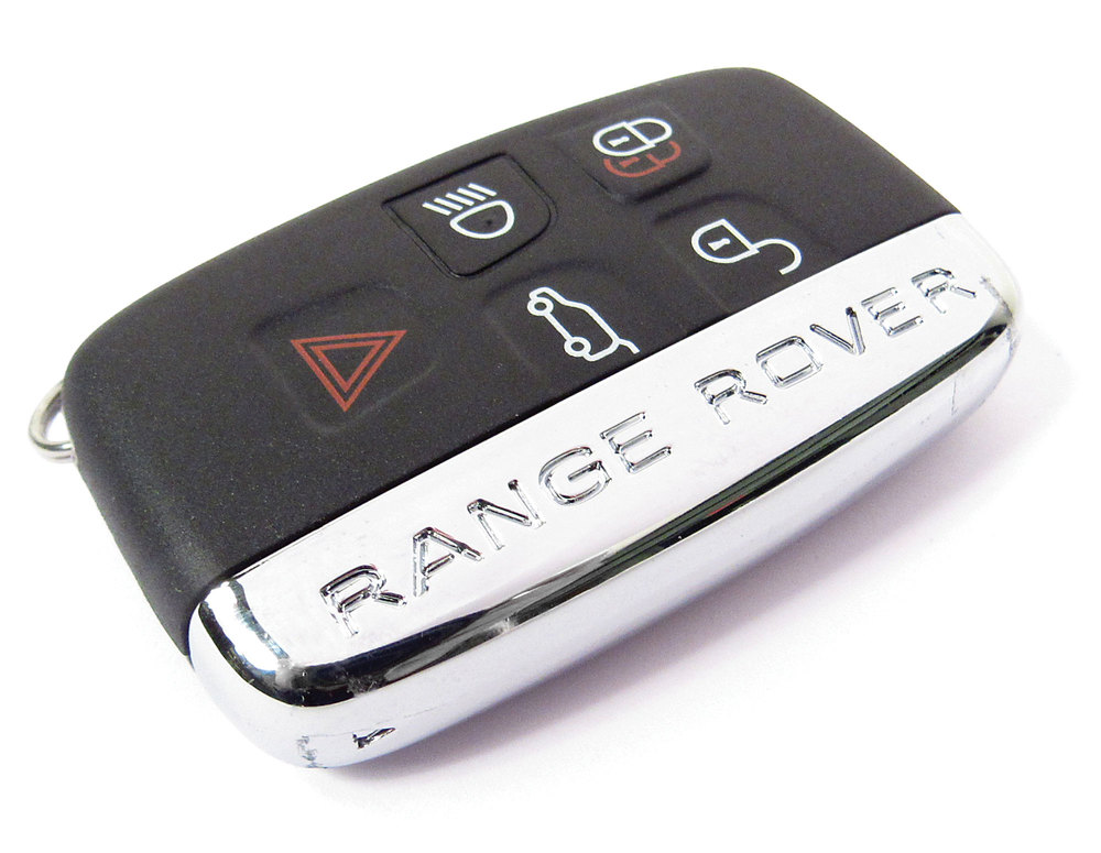 Key Fob / Key Remote Replacement Cover On 5-Button Folding Remote Key For Range Rover Sport, Range Rover Full Size L405 & Range Rover Evoque