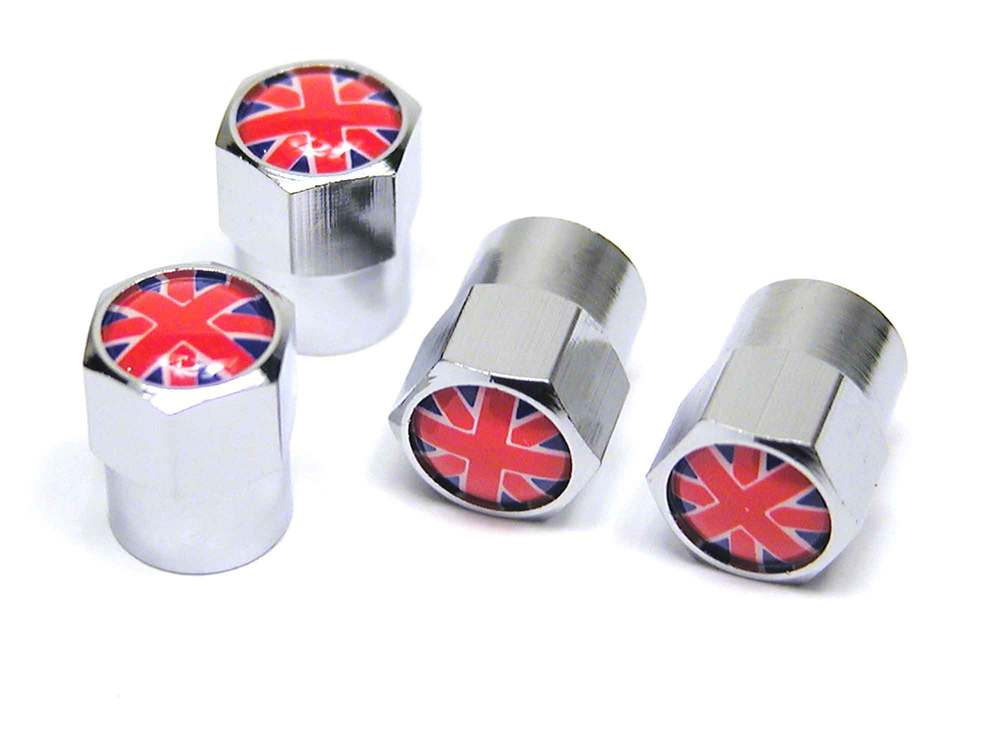 Tire Valve Caps - Union Jack - Set Of 4