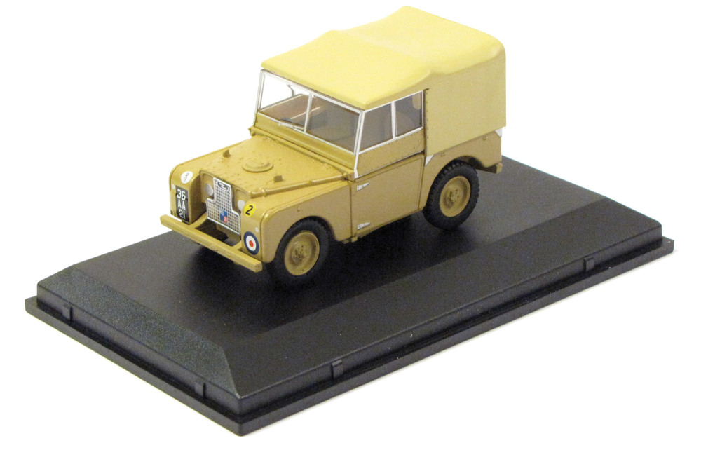 Diecast Collectible Toy Truck, Land Rover Series 1 British Army 1:43 Scale