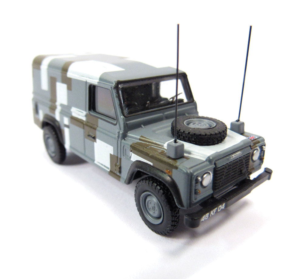 Diecast Toy Truck Set, Oxford Diecast Collectibles, Land Rover Military 10-Piece Set, 1:76 Scale