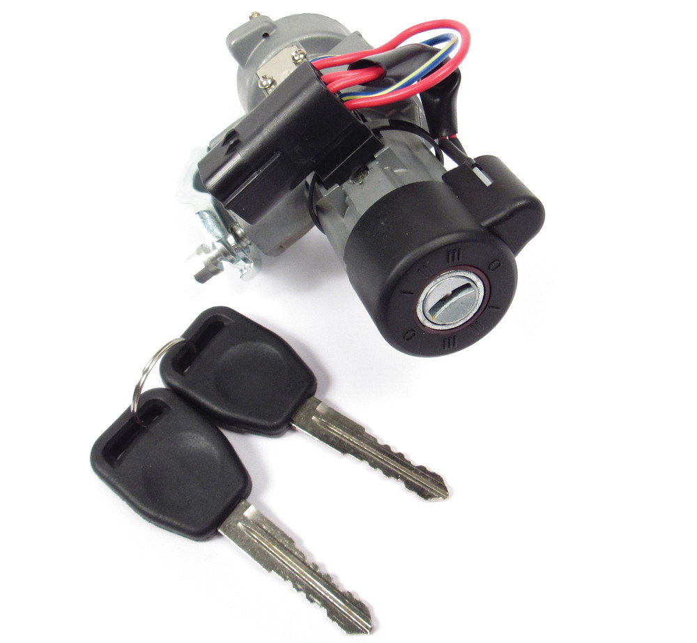 Ignition Lock Switch Retrofit Replacement Kit Of QRF000080 With Two (2) Spare Keys For Land Rover Discovery Series II (No Key Programming Required)