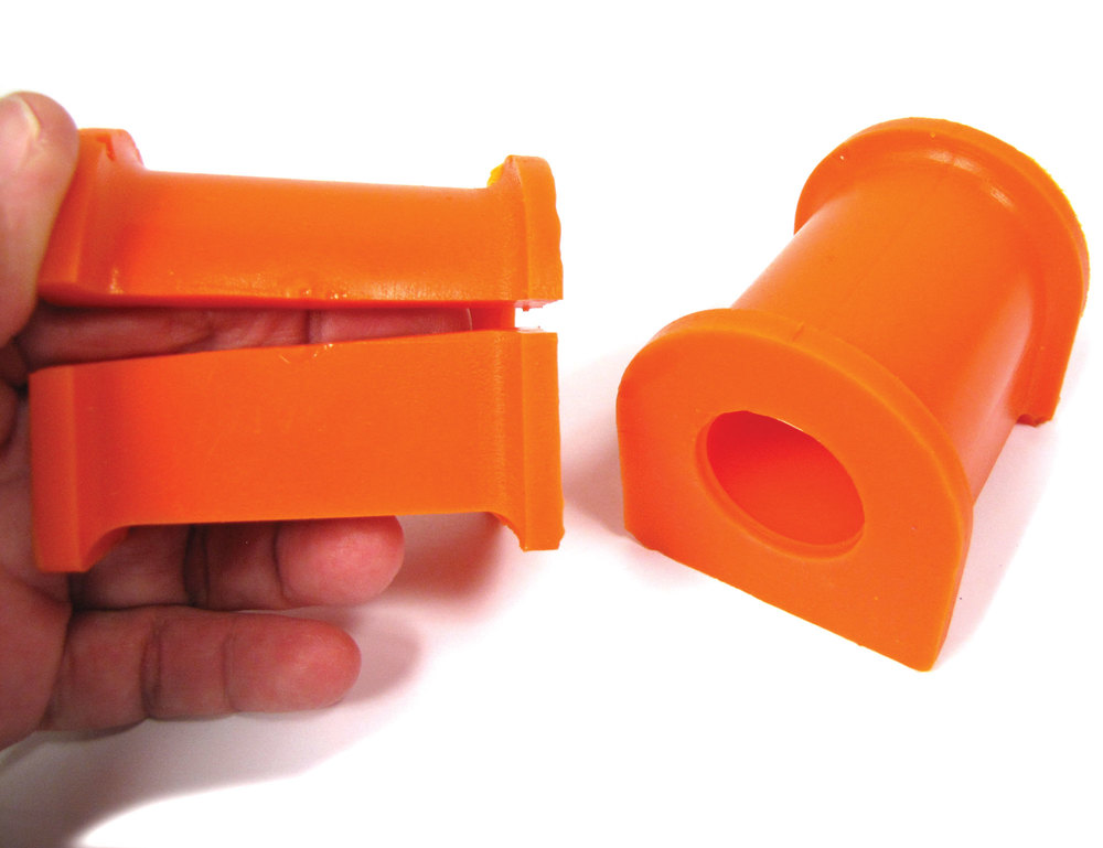 Orange Polybush Front Pair 4 with Split