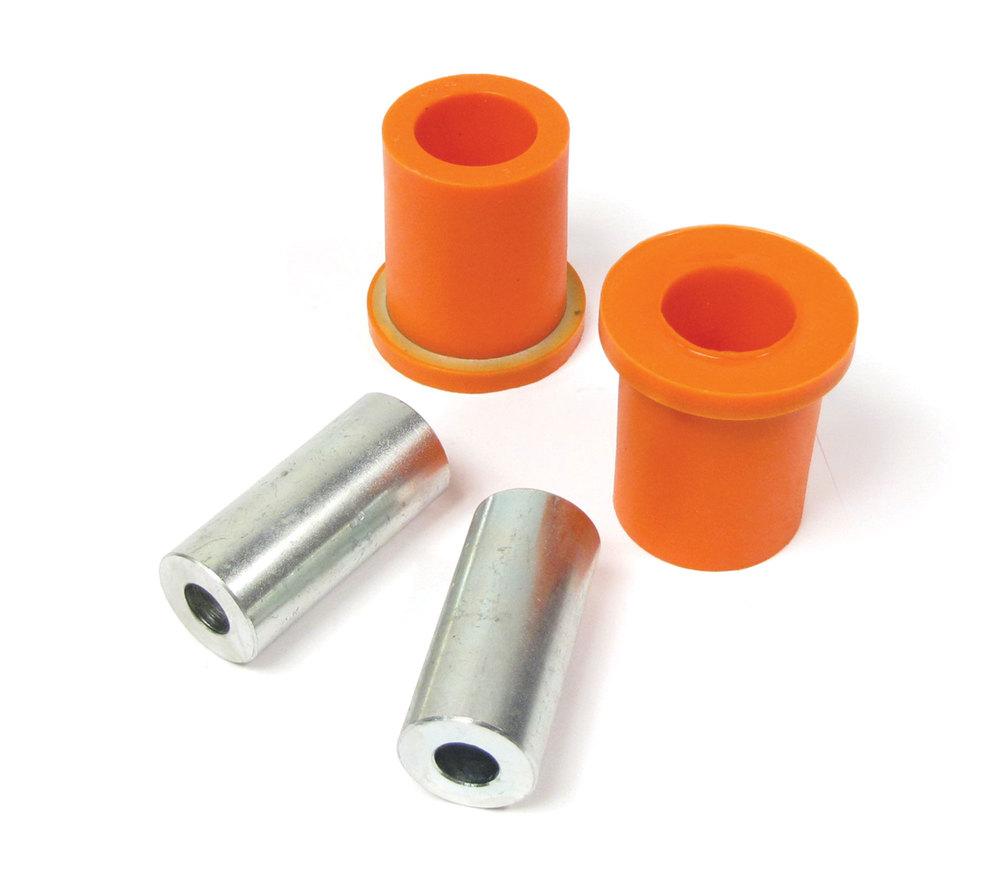 Polyurethane Bushings By Polybush, Pair, Front Lower Suspension Front Of Arm (Orange / Standard Firmness) For Land Rover LR3, LR4 And Range Rover Sport