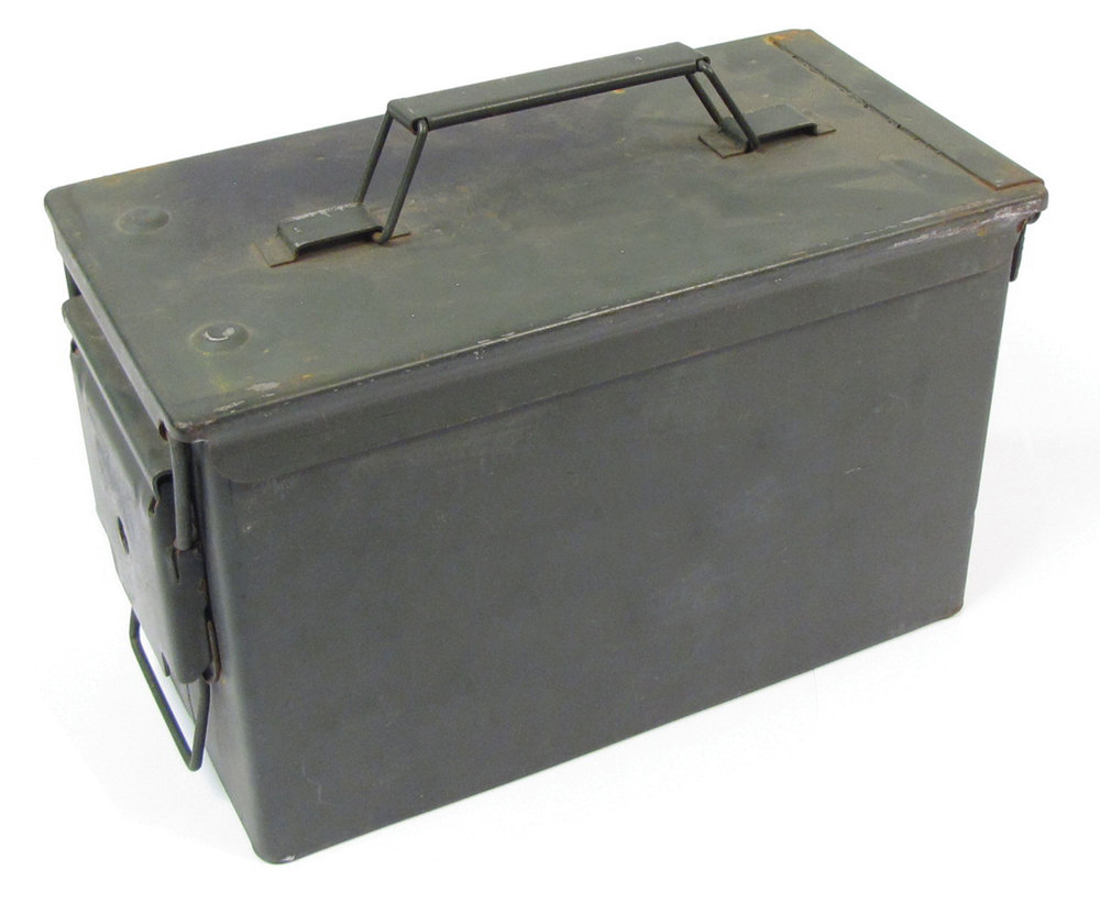 Ammunition Storage Can .50 Cal Metal (Used)