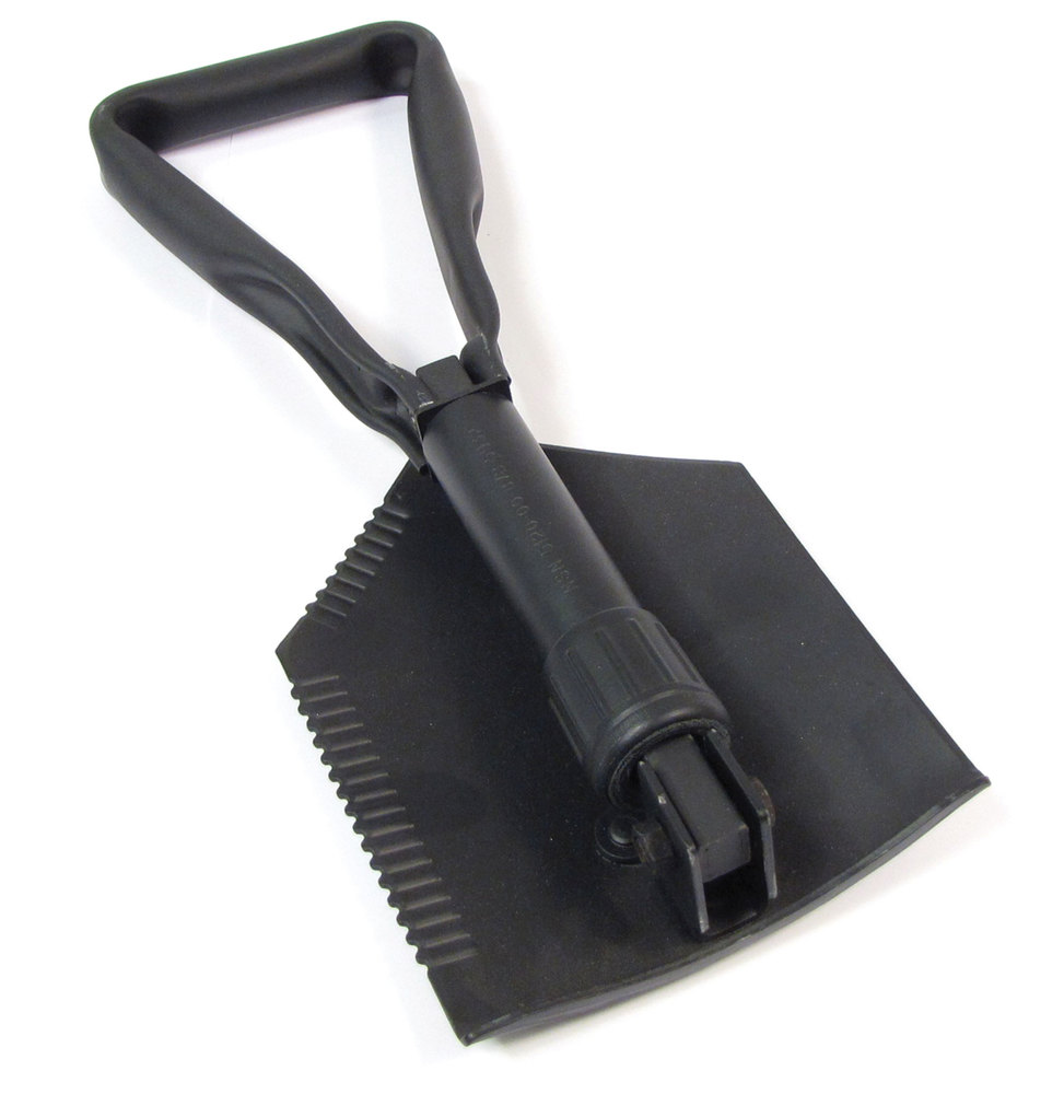 Compact Folding Shovel, US Military-Style, Trifold (New)