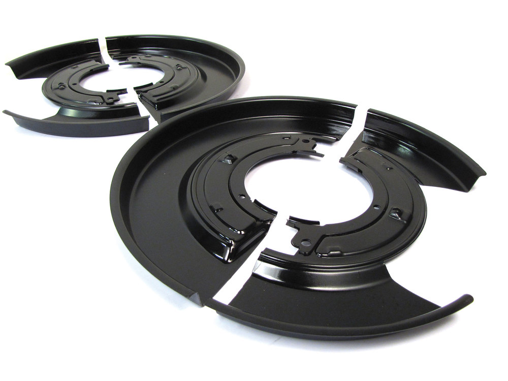 Rear Brake Backing Plate Kit, Left And Right Pair, For For Range Rover Full Size L322 2003 - 2009, Includes Easier Install Two-Piece Backing Plates