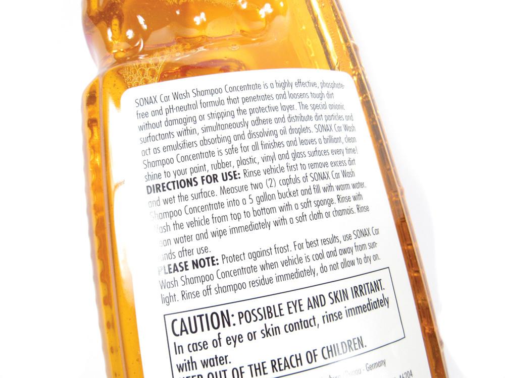 Car Wash Shampoo Concentrate: 33.8 Fl Oz Bottle By SONAX