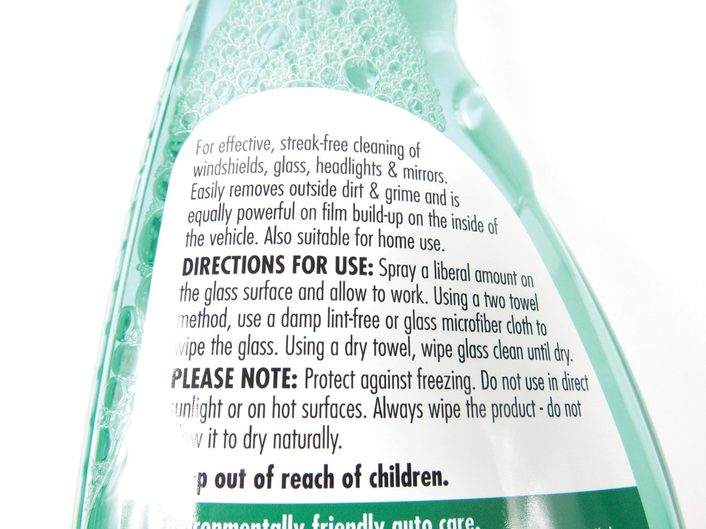 Glass Cleaner: 16.9 Oz Bottle By SONAX